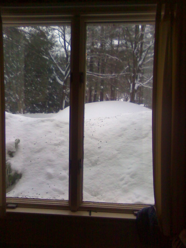 snow higher than the window