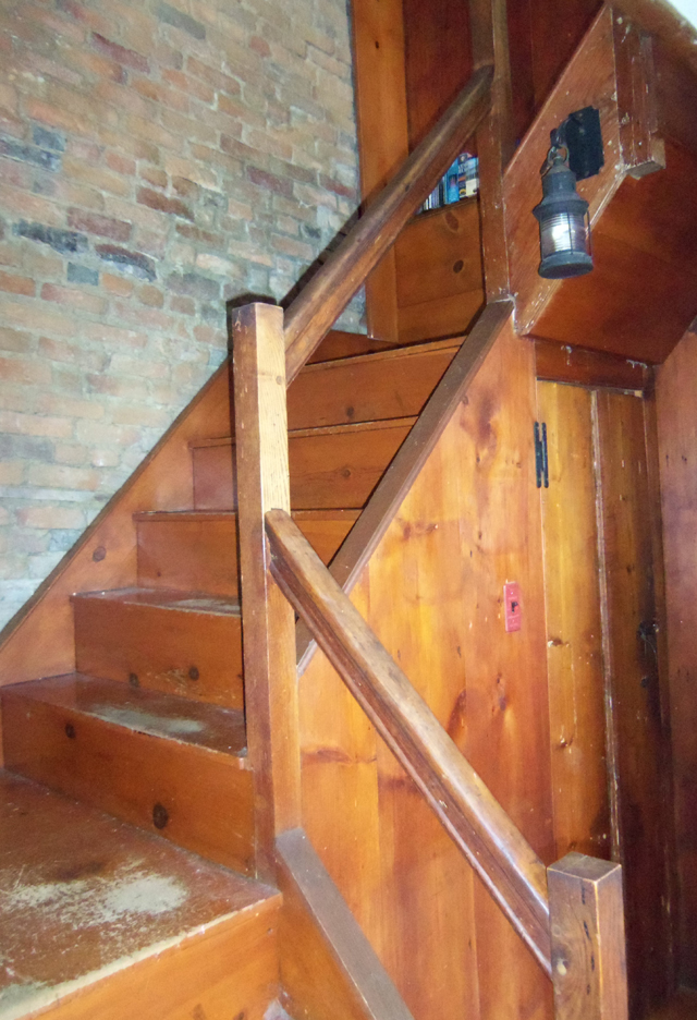 Front stairs at the Thomas Lord house