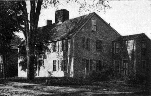 The Andrew Burley house in 1900, from the book Ipswich in the Massachusetts Bay Colony