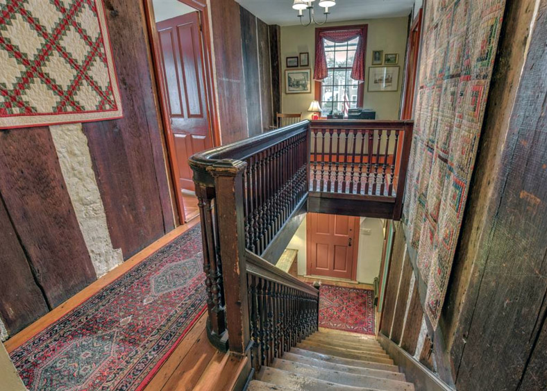 Jacobean staircase in the Dennis-Dodge house