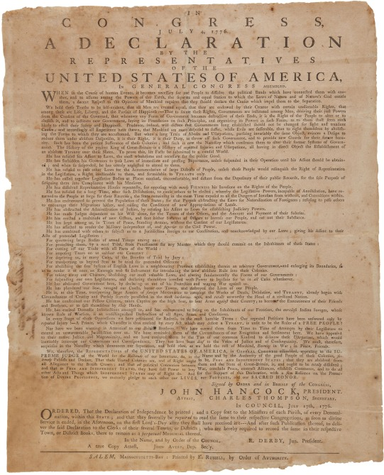 copy of that printing, created by Boston printer Ezekiel Russell