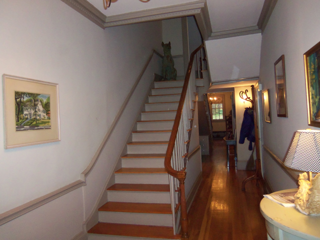 The front stairway