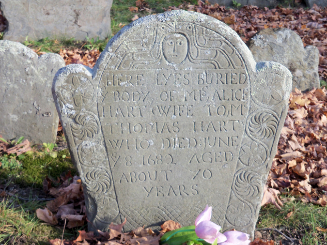Alice Hart's tombstone at the Old North Burying Ground.
