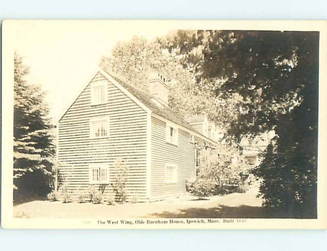 The Hart house was long known as the Burnham house