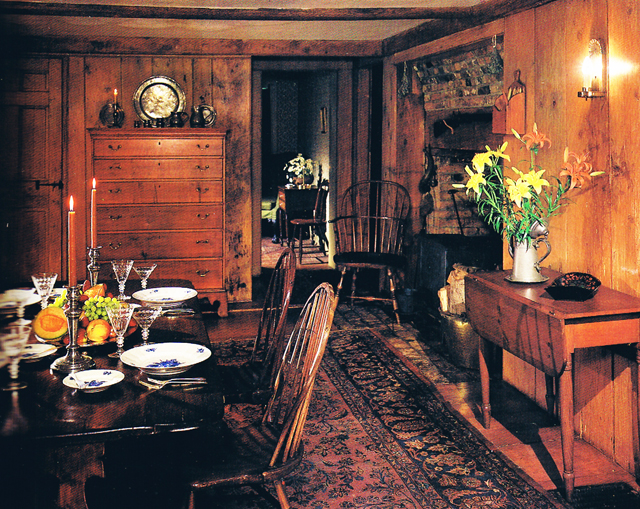View inside the Jeremiah Kinsman house from the October 1987