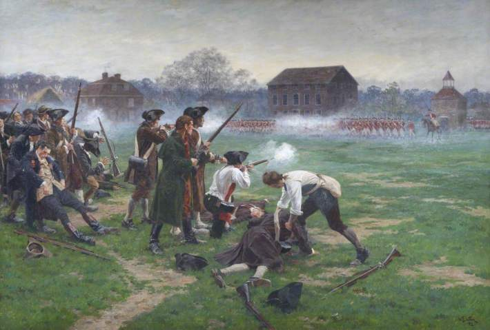 Wollen, William Barns, 1857-1936; Battle of Lexington, 19 April 1775