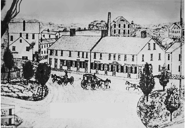 Dr. John Manning built the mill at the corner of Market and South Main Streets, which predated the Caldwell building.