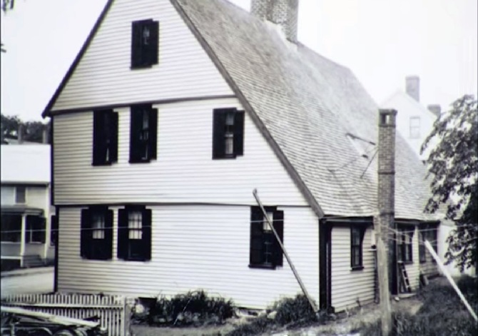 Side view of the Matthew Perkins house