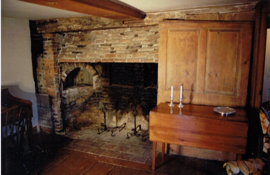 Fireplace in the Merchant-Choate house. Photo by Paul McGinley