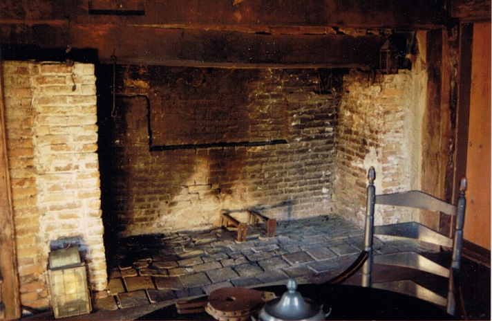 Fireplace in the Merchant-Choate house