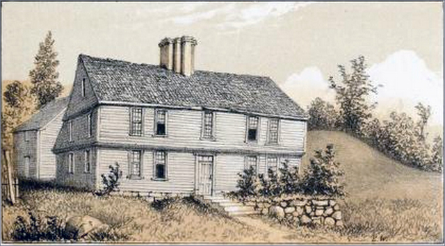 "The Sutton House from ""Homes of our Fathers by Edwin Whitefield"