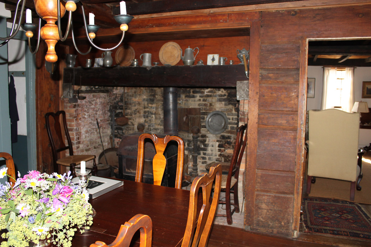 hearth at Thomas Dennis house in Ipswich