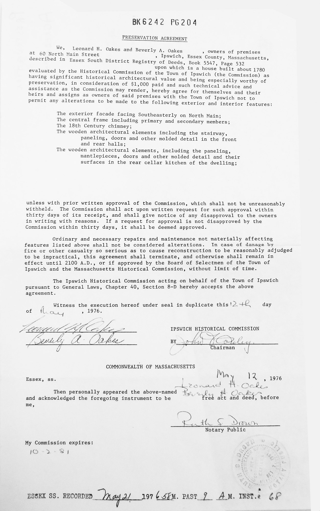 treadwell-hale-preservation-agreement