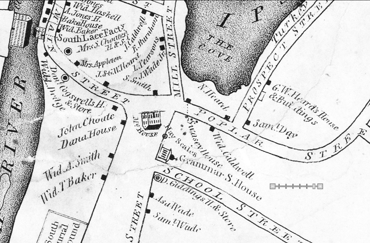 1834 map of the Ipswich South Green