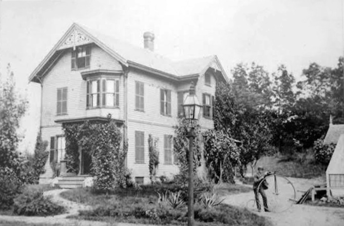 The Samuel Wade house in the late 1800's
