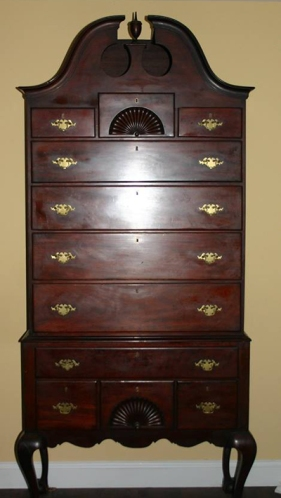 A high-boy cabinet made by Mark Haskell, still in the family.