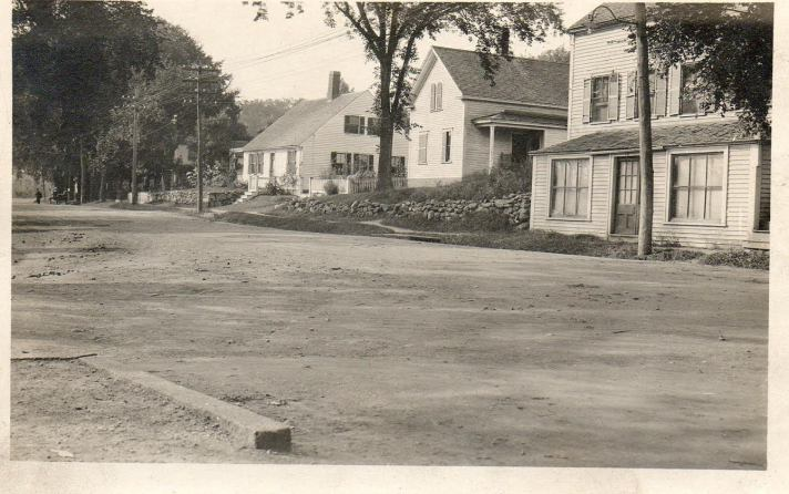 The Stone-Rust house is on the left in this photo from the early 1900's, provided by