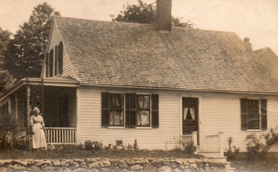 Ida Goddit (Gaudette) in front of her home, early 1900's/
