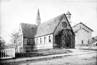 early photo of Ascension Church in Ipswich MA