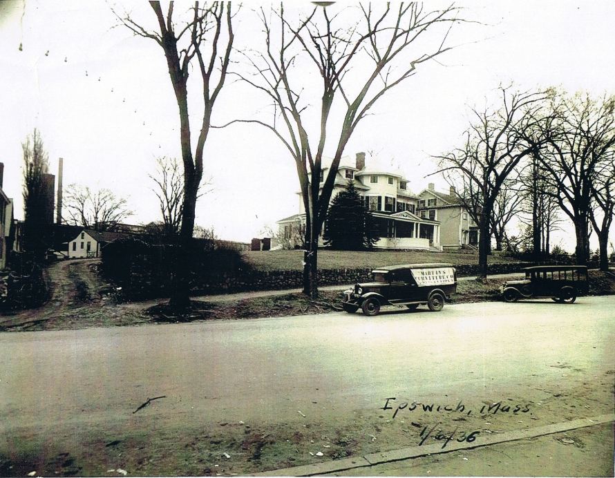 The Bailey house and Market Street, 1936