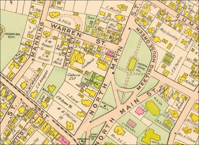 Screenshot from the 1910 Ipswich village map