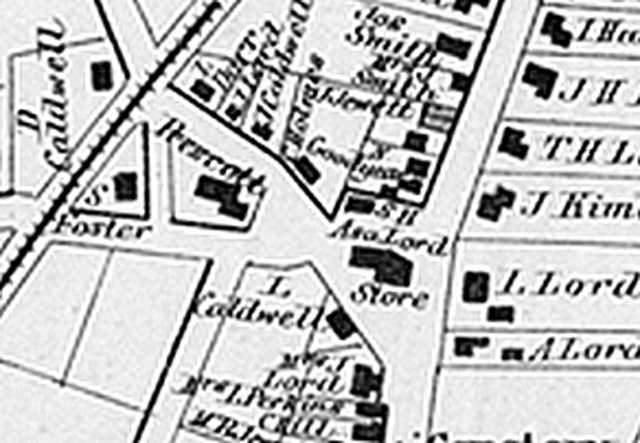 The 1872 Lords Square map appears to show the Payne School at its current location, along with the little Linebrook School at the locati