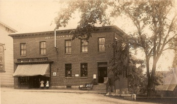 Blake's Drug Store, now the Odd Fellows Building by George Dexter