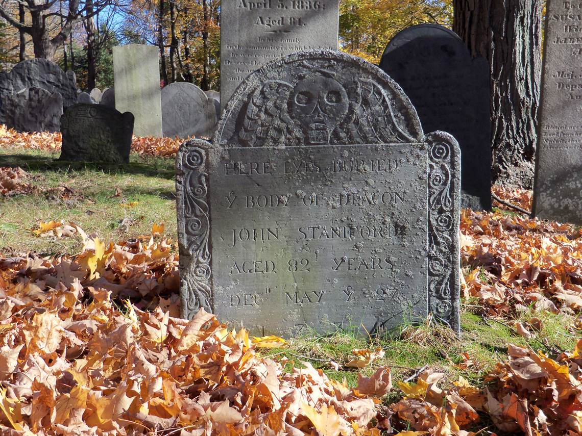 John Staniford's tombstone in Section C of the Old North Burying Ground