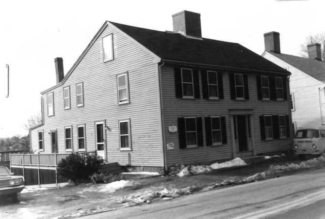 This photo of the Joseph Bolles house at 30 High St . is from the 1970's.