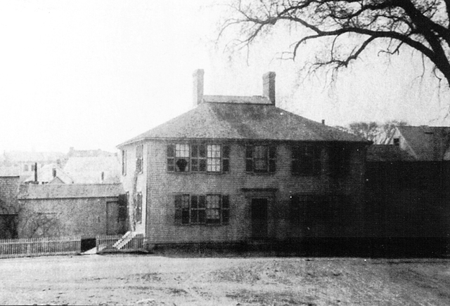 The Manning house before it was converted to shops