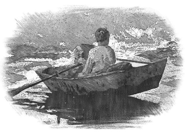 The young Dr. Manning would take his boat outin the dark of night to bring huge boulders back