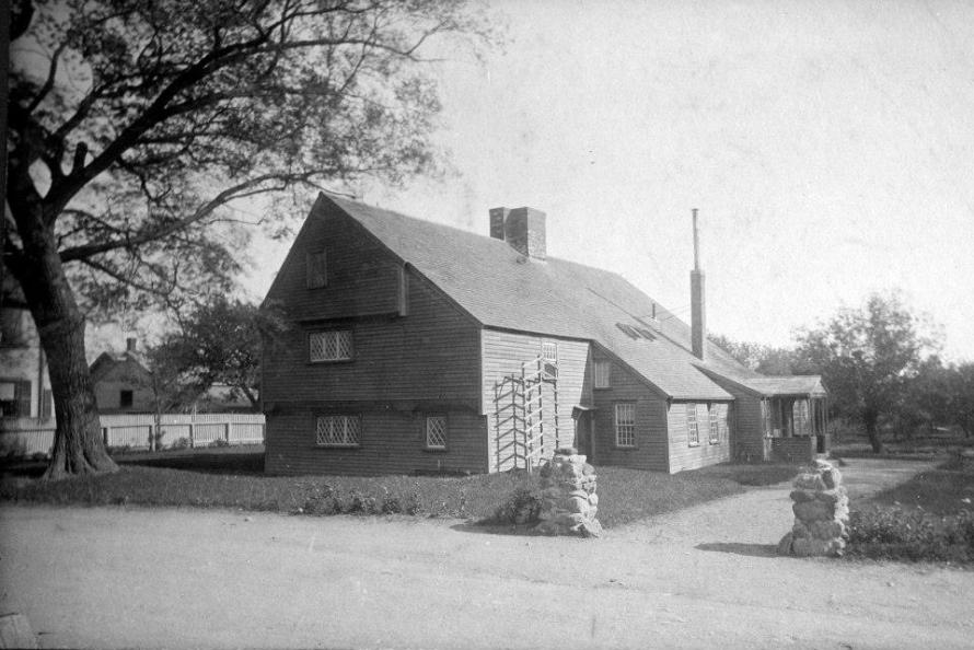 The Whipple House as it first appeared after being moved to the South Green.