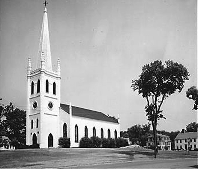 View of First Church in Ipswich