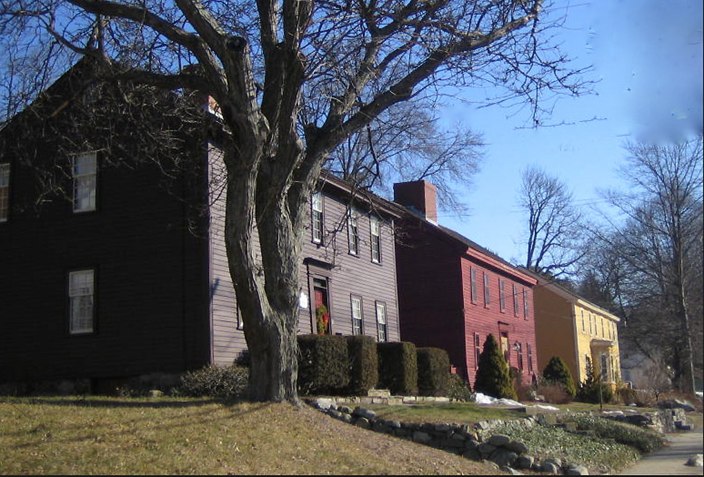 Historic houses on High Street in Ipswich MA
