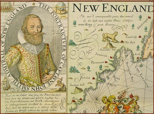Captain John Smith's map of New England