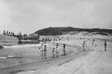The First Annual Crane Beach picnic was held at the site of the wrecked Ada K.Damon