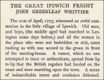 Great Ispwich Fright, John Greenleaf Whittier