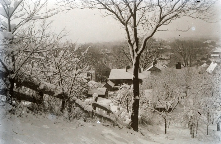 View of Ipswich circa 1900 from Town Hill.