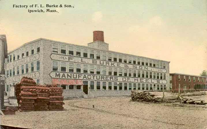 The Burke Heel Factory and Canney Lumber Fire, June 19, 1933