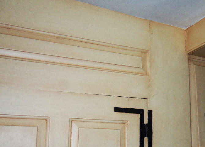 Door and molding detail from the 1734 Caleb Warner house