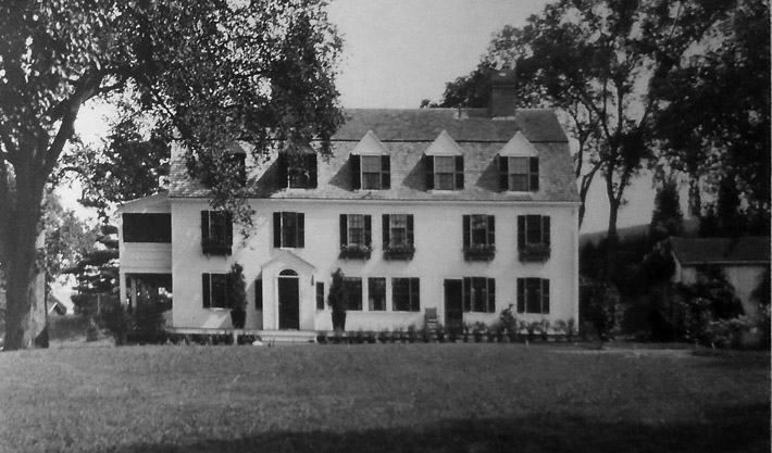 Caleb Warner house, photo from the early 20th Century