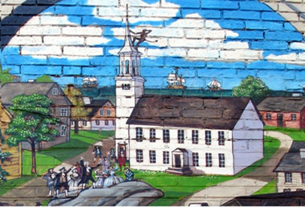 Image from the Mural painted by Alan Pearsall at the Ipswich Riverwalk