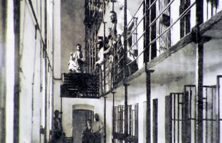 Inside the Ipswich jail, demolished in 1933. Photo courtesy Bill George