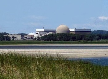 A nuclear power plant originally proposed for Town Farm Road in Ipswich was eventually built in Seabrook after being defeated at the 1971 Ipswich town meeting. Had the plant been built in Ipswich this would have been the view from Jeffreys Neck Road.