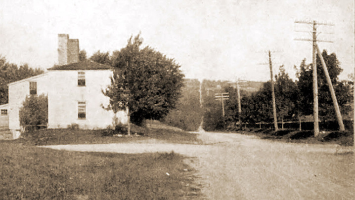 The Newburyport Turnpike in Topsfield, early in the 20th Century