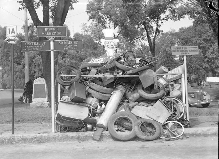 Market Square, WWII junk collection