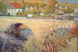 Green Street Bridge painting by Theodore Wendel