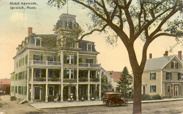 Treadwell's Inn on North Main Street was modernized as the Agawam House in the late 19th Century, but today is unrecognizable.