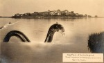 Hoax photo of an Ipswich sea serpent by George Dexter