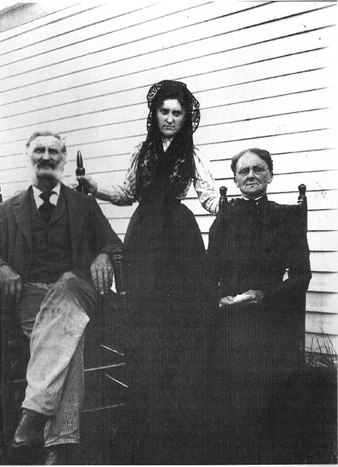 Lucy Kimball with her parents